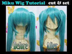 Miku wig tutorial: CUT and SET by valxonia.deviantart.com on @DeviantArt