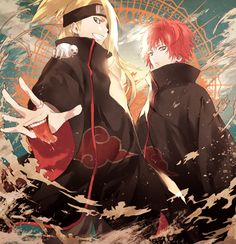 Akatsuki Deidara and Sasori |Pinned from PinTo for iPad|