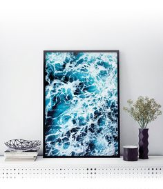 Coastal Ocean Waves Print Beach Wall Art Beach Wall by TaiPrints