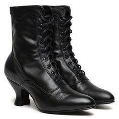 72d6268017db New oaktree farms veil black kidskin leather victorian granny boot.  KleidungEdwardianische SchuheViktorianischen StiefelSchwarze ...