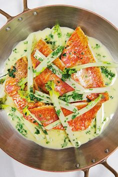 Fillet of Red Mullet with Chervil-Buttered Sea Kale // 5 Mid-Week Supper Recipes Anyone Can Follow