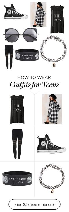 """Untitled #16"" by vketchina on Polyvore featuring Audrey 3+1, Converse, Monsoon, Wood Wood, women's clothing, women, female, woman, misses and juniors"