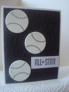 Baseball Sports Card by AmylovesNormaJean - Cards and Paper Crafts at Splitcoaststampers