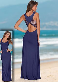 Back detail maxi in the VENUS Line of Dresses for Women
