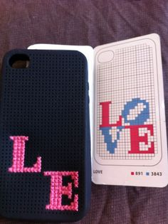 customizing an iPhone case with a cross-stich pattern - got to try that!