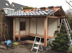 japanese garden shed for sale Japanese Tea House, Traditional Japanese House, Japanese Gardens, Garden Gazebo, Backyard Garden Design, Garden Sheds For Sale, Home And Garden, Outdoor Wood Burner, Pergola