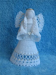 Custom order Crochet white angel figurine religious gift Christmas ornament tree decor godmothers present Christening guardian lace angelItems similar to Christmas tree decoration White crochet angel Set 2 pcs Christmas ornament gift lace angel on Et Crochet Christmas Ornaments, Crochet Snowflakes, Christmas Angels, Christmas Décor, Crochet Angel Pattern, Crochet Angels, Crochet Patterns, Thread Crochet, Crochet Dolls