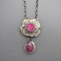 Pink Drusy Necklace
