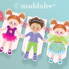 Paper Arts, Party Printables, Invitations, Cards, Tutorials, Recipes: Paper Doll Bunting Banner and Making a Better Blog
