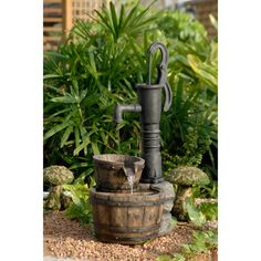 Old-Fashioned Water Pump Water Fountain | Overstock.com