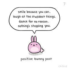 positive bunny post   chibird