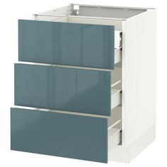 IKEA - SEKTION white Base cabinet w/3 fronts & 4 drawers Frame colour: