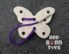 Let this wooden butterfly flutter into your childs life! Great for Easter Baskets or Birthday fun! Hand cut from 1/2 solid poplar wood edges are hand