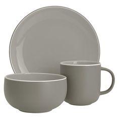 Buy John Lewis Puritan Tableware Set, 12 Piece, Mocha Online at johnlewis.com