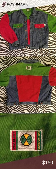 "*RARE* Vintage Cross Colours denim jacket M Super RARE and amazing find! This is multi colored Cross Colours jean jacket is straight out of hip hop's golden age and still in amazing condition! I have not been able to find anything else like this on poshmark, ebay, or anywhere online. This was listed as a medium when I bought it but be sure to check the measurements to make sure it will fit you (remember that jean jackets are generally cropped so the shorter length is nornal). Length 22.5""…"