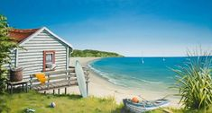Check out Bach by the Beach Canvas Print by Graham Young at New Zealand Fine Prints