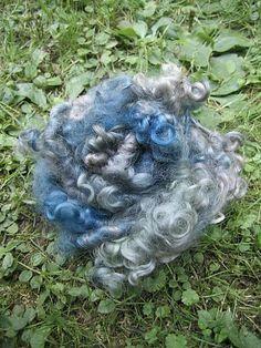 Handspun+Art+Yarn++Cotswold+Wool+Locks++Herb+by+EnchantedYarn,+$6.50