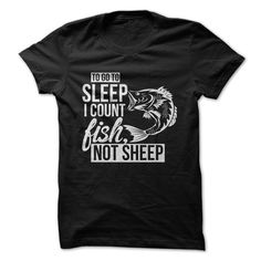 View images & photos of Love fishing - Count Fish to go to sleep t-shirts & hoodies