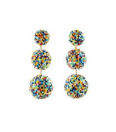 Multicolor masai glass beaded drop earrings. ShopBazaar, shop designer clothing, shoes and accessories selected exclusively by the editors at Harper's Bazaar.
