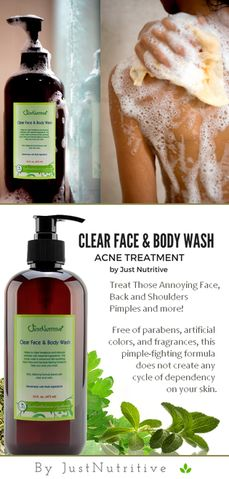 Clear Face & Body Wash / Acne Face & Body Wash #acnetool