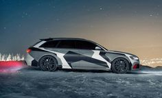 This Ferocious Camo Audi RS6 Is Skier Jon Olsson's New Winter Ride! Hit the image for the video!