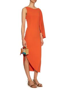Osman Zenoba asymmetric stretch-crepe dress
