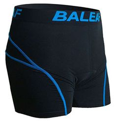 6. Baleaf Men's 3-D Padded Bicycle Cycling Colored Underwear Shorts