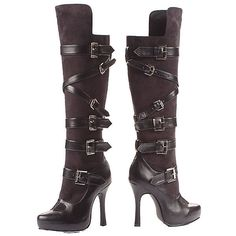 Prestige Bandit Boot Adult ($75) ❤ liked on Polyvore featuring costumes, halloween costumes, multicolor, colorful costumes, leg avenue, leg avenue costumes, sexy costumes and adult costume
