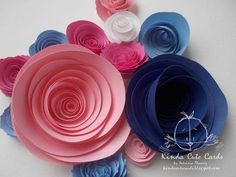 HOW TO MAKE PAPER FLOWER FOR HANDMADE CARD DECORATION - YouTube