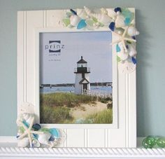 Great idea - make your own vacation souvenir out of shells and sea glass you pick up on the beach!