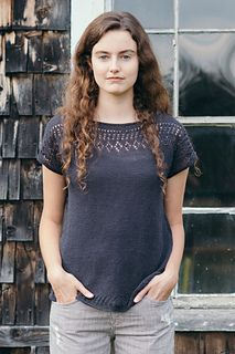 Isabell Kraemer's Cullum tee is a breezy top knitted in Sparrow, embellished with lacy details at neck and hem and an easy fit that works with everything in your wardrobe. Worked seamlessly from the top down, Cullum begins with shoulders shaped with short rows before joining to work in the round for the body.