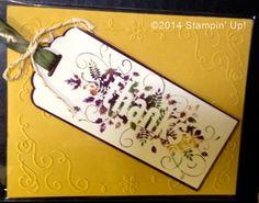 Stampin' Up! Cards - Seasonally Scattered stamp set, Scalloped Tag Topper Punch, Filigree Frame Embossing Folder