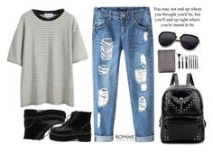 """#Romwe"" by credentovideos ❤ liked on Polyvore featuring Chicnova Fashion"