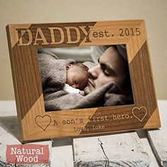 Personalized Daddy Picture Frame - Dad Christmas Gift From Son - Dad Christmas Gift From Children - Dad Picture Frame From Son - HHDPF -- Click image to review more details.