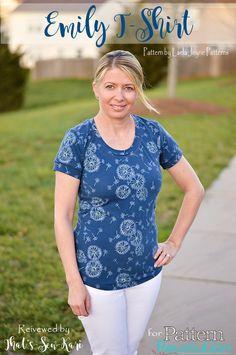 Emily T-Shirt by Laela Jeyne Patterns