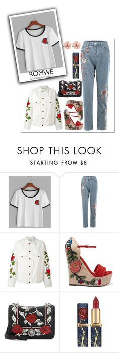 """""""Untitled #1441"""" by elisabetta-negro ❤ liked on Polyvore featuring Off-White, Gucci, Miu Miu and 1928"""