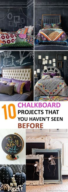 Home Design Ideas: Home Decorating Ideas For Cheap Home Decorating Ideas For Cheap 10 Chalkboard Projects that You Haven't Seen Before, Diy, diy home projects,... #cheaphomedecor
