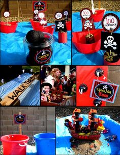 PIRATE Birthday Party - Pirate GAMES - Printable Signs - Boys Birthday Party - Pirate Ship - Girl Pirate Party - Pirate Party - Pirate Printables - INSTANT DOWNLOAD