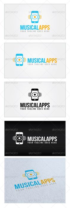 Musical Apps Logo Template