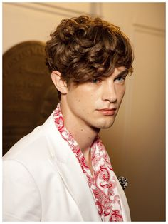 Cool, romantic hair style for guys with curly or wavy hair