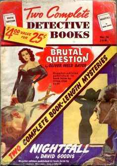Two Complete Detective Books January 1949-Brutal Question/Nightfall