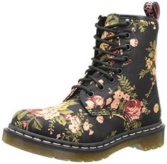 185ec6c69ff Martens Women s 1460 Re-Invented Victorian Print Black Victorian Flowers  Lace Up Boot - 3 F(M) UK   5 B(M) US. Lace-up floral combat boot featuring  ribbed ...