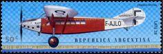 Stamp: Aircraft Late 28 (Argentina) (Birth centenary of Antoine de Saint-Exupéry) Mi:AR 2585,G&o:AR 3058,Gz :AR 2527