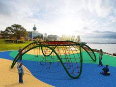 Juegos Modulares de Cuerdas   MegaJuegos. Entretención en tu Parque Landscape Architecture Design, Concept Architecture, Playground Design, Children Playground, Installation Art, Design Art, Fair Grounds, Adventure, House Styles