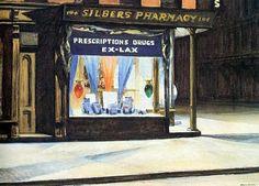 "Edward Hopper American 1882 - 1967 ""Drug Store"""
