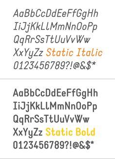 Static free font