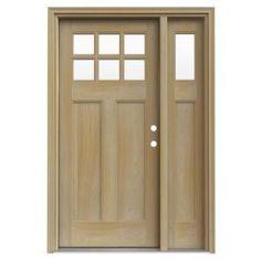 JELD-WEN 6 Lite Craftsman Unfinished AuraLast Pine Solid Wood Entry Door With 14 in  sc 1 st  Pinterest & AWW911 allegheny wood works craftsman 6 lite front door | front door ...