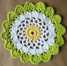 Moon Flower Dishcloth – Maggie Weldon, freebie, thanks so xox
