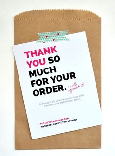 thank you note - typography