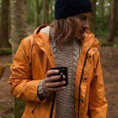 Westray Crew | 100% British Wool | Finisterre UK - love an orange coat